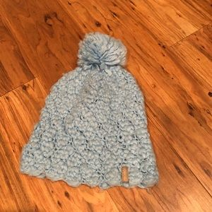 Used, baby blue beanie for sale